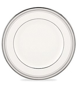 Image of kate spade new york Palmetto Bay Striped Platinum Bone China Dinner Plate