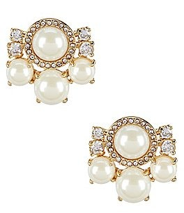 Image of kate spade new york Pearls of Wisdom Cluster Stud Statement Earrings