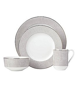 Image of kate spade new york Savannah Street Porcelain 4-Piece Place Setting