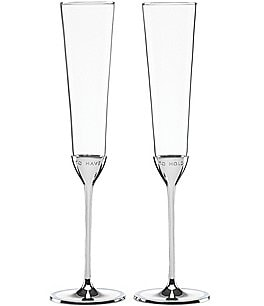 Image of kate spade new york Take the Cake To Have & To Hold Wedding Toast Flute Pair