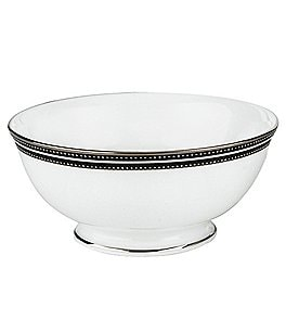 Image of kate spade new york Union Street Striped & Dotted Platinum China Fruit Bowl