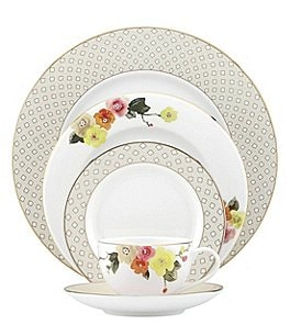 Image of kate spade new york Waverly Pond Floral & Geometric 5-Piece Place Setting