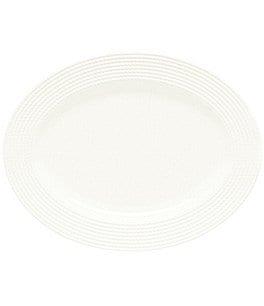 Image of kate spade new york Wickford Rope-Embossed Porcelain Oval Platter