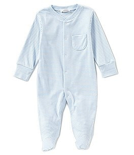 Image of Kissy Kissy Baby Boy Newborn-9 Months Stripe Footed Coveralls