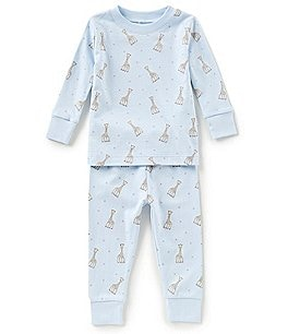 Image of Kissy Kissy Baby Boys 12-24 Months Sophie La Girafe Printed Top & Bottom Pajama Set