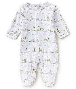 Image of Kissy Kissy Baby Boys Preemie-9 Months Noahs Printed Footed Coverall