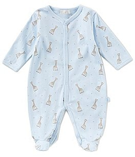 Image of Kissy Kissy Baby Boys Preemie-9 Months Sophie La Girafe Printed Footed Coverall