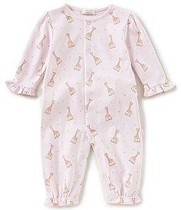 Image of Kissy Kissy Baby Girls Newborn-9 Months Sophie La Girafe Printed Coverall