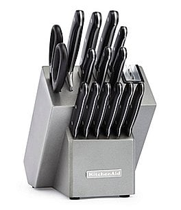 Image of KitchenAid Classic Forged 16-Piece Triple Rivet Cutlery Set