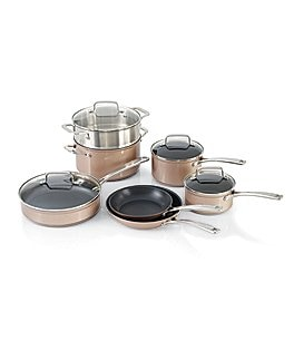Image of KitchenAid Toffee Delight Hard Anodized Nonstick 11-Piece Cookware Set