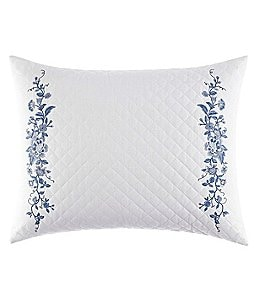 Image of Laura Ashley Charlotte Embroidered Quilt Breakfast Throw Pillow
