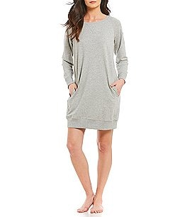 Image of Lauren Ralph Lauren French Terry Raglan Lounger Shirt Dress