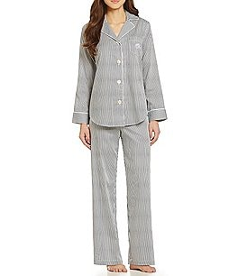 Image of Lauren Ralph Lauren Striped Sateen Classic Pajamas