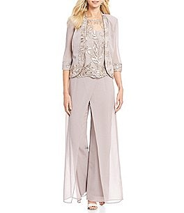 Image of Le Bos Embroidered Wrap 3-Piece Pant Set