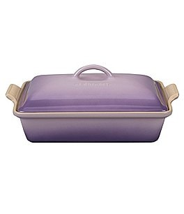 Image of Le Creuset 4-Quart Heritage Covered Rectangular Casserole
