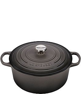 Image of Le Creuset 7.25-qt Round Enameled Cast Iron Dutch Oven with Stainless Steel Knobs