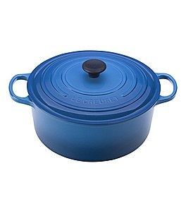 Image of Le Creuset 9-Quart Signature Round Dutch Oven with Stainless Steel Handle