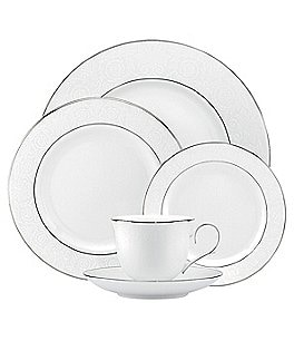 Image of Lenox Artemis Floral Platinum Bone China 5-Piece Place Setting
