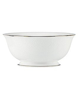 Image of Lenox Artemis Floral Platinum Bone China Serving Bowl