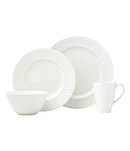 Image of Lenox British Colonial Carved 4-Piece Place Setting