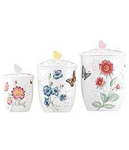 Image of Lenox Butterfly Meadow 3 Canister Set