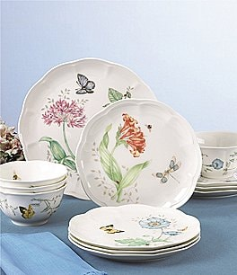 Image of Lenox Butterfly Meadow Floral Porcelain 12-Piece China Set