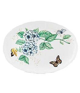 Image of Lenox Butterfly Meadow Floral Porcelain Oval Platter