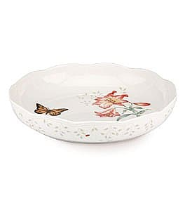 Image of Lenox Butterfly Meadow Porcelain Low Serving Bowl