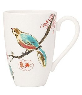 Image of Lenox Chirp Floral & Bird Bone China Mug
