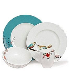 Image of Lenox Chirp Floral & Bird 4-Piece Place Setting