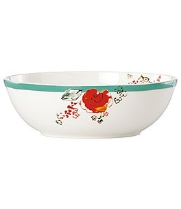 Image of Lenox Chirp Floral Bone China Fruit Bowl
