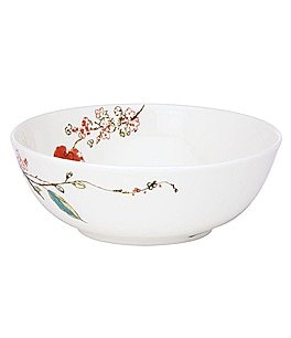 Image of Lenox Chirp Floral Bone China Soup Bowl