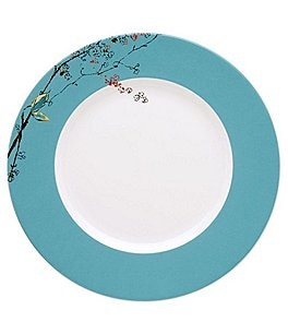 Image of Lenox Chirp Floral Rimmed Bone China Dinner Plate