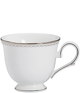Image of Lenox Classics Collection Pearl Platinum Bone China Cup