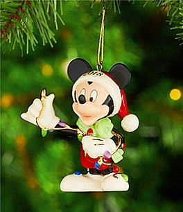 Image of Lenox Disney 2018 Merry & Bright Mickey Ornament