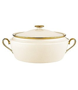 Image of Lenox Eternal Ivory Covered Vegetable Bowl