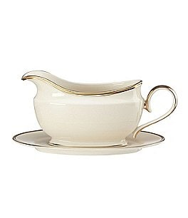 Image of Lenox Eternal Ivory Gravy Boat With Stand