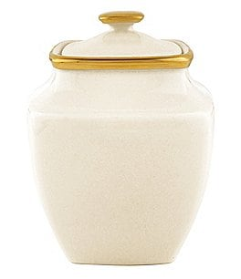 Image of Lenox Eternal Ivory Square Sugar Bowl With Lid