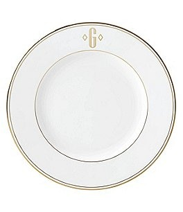 Image of Lenox Federal Gold Block-Monogrammed Dinner Plate