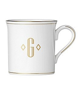 Image of Lenox Federal Gold Block-Monogrammed Mug