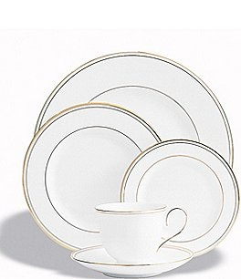 Image of Lenox Federal Gold Bone China 5-Piece Place Setting