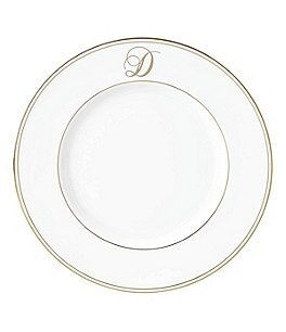 Image of Lenox Federal Gold Script-Monogrammed Accent Plate