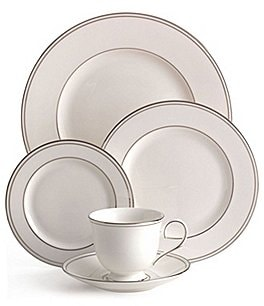 Image of Lenox Federal Neoclassical Platinum Bone China 5-Piece Place Setting