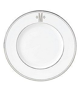 Image of Lenox Federal Platinum Block-Monogrammed Accent Plate
