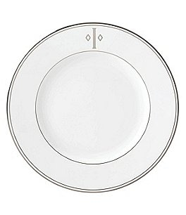 Image of Lenox Federal Platinum Block-Monogrammed Dinner Plate