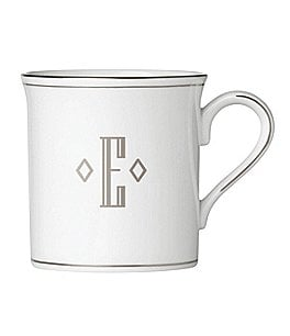 Image of Lenox Federal Platinum Block-Monogrammed Mug