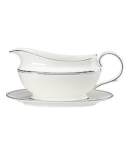 Image of Lenox Federal Platinum Sauce Boat & Stand