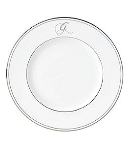 Image of Lenox Federal Platinum Script-Monogrammed Accent Plate