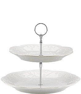 Image of Lenox French Perle 2-Tier Server