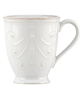 Image of Lenox French Perle Scalloped Stoneware Mug